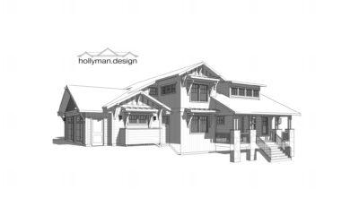 Craftsman / Bungalow Has Unique Open Floor Plan